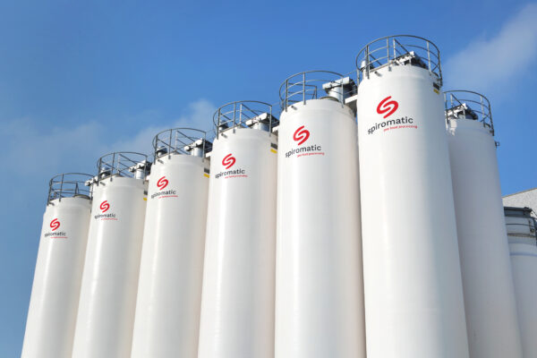 Outdoor GRP bulk silos